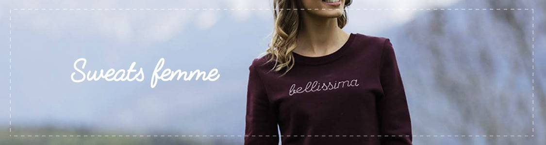 Sweat coton bio message personnalisable femme